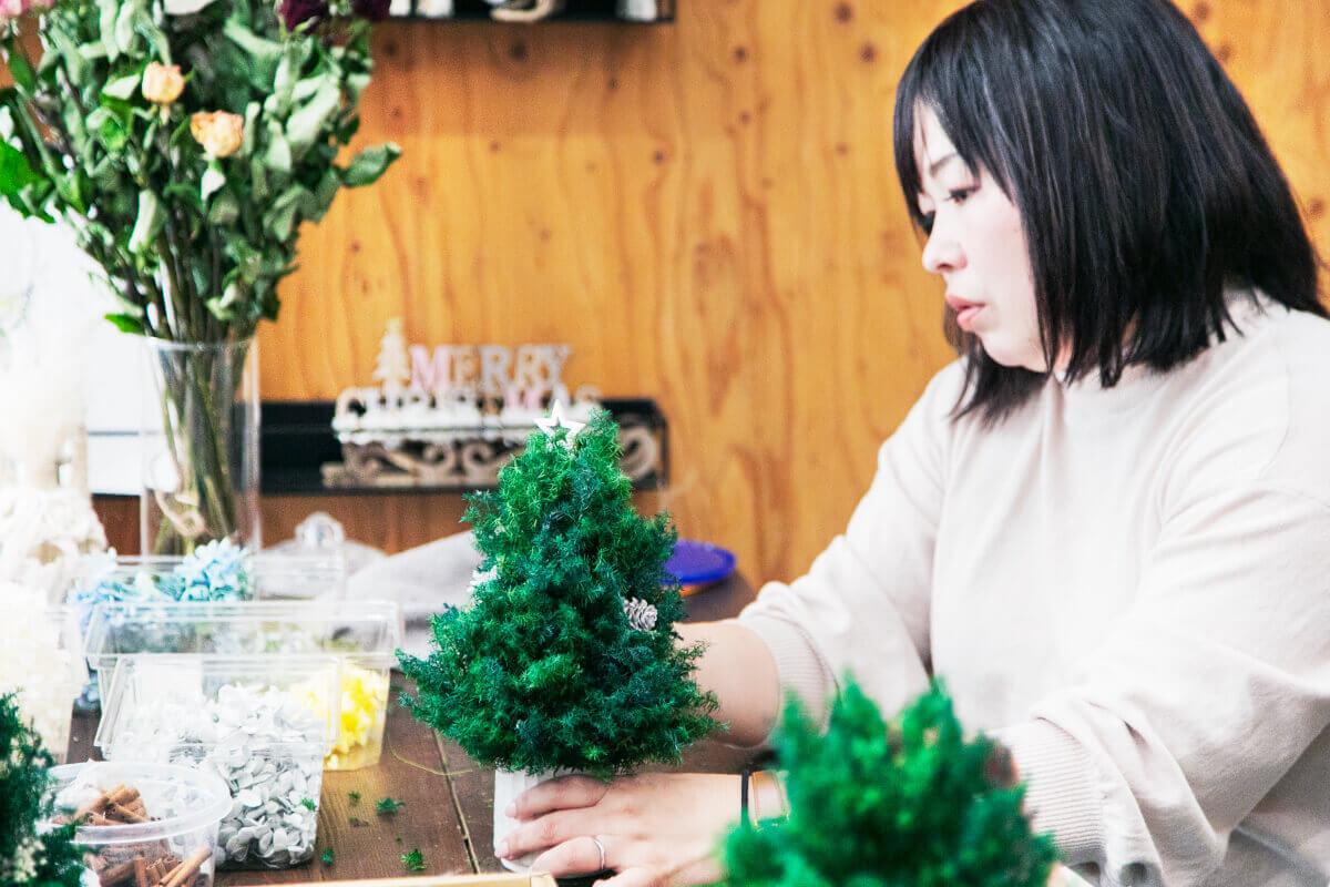 卓上クリスマスツリーのworkshop
